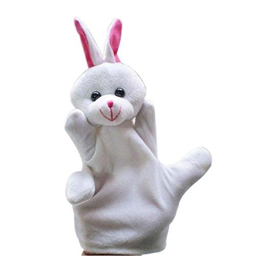 Baby Kids Education Toy FTXJ Cute Baby Child Zoo Farm Animal Hand Glove Puppet Finger Sack Plush Toy Rabbit