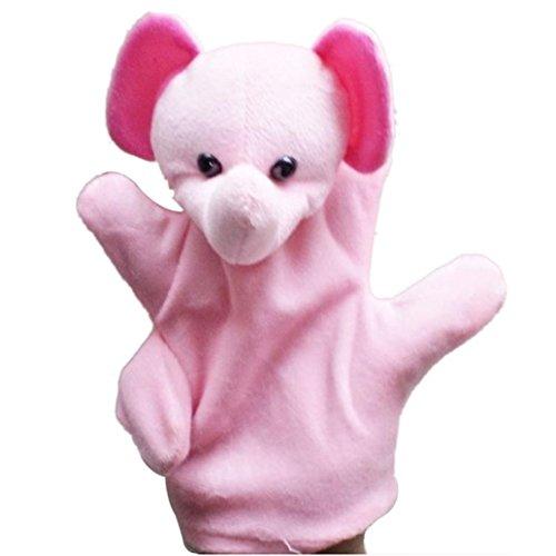 Fullkang Cute Big Size Animal Glove Puppet Hand Dolls Plush Toy Baby Child Zoo Farm Animal Hand Glove Puppet Finger Sack Plush Toy Finger Puppets Elephant