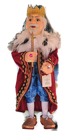 KING 36 Loutka Marionette String Puppets Approx 18 High Hand Made In Prague Czech Republic