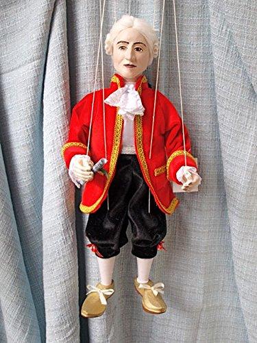 MOZART 32 Loutka Marionette String Puppets Approx 18 High Hand Made In Prague Czech Republic