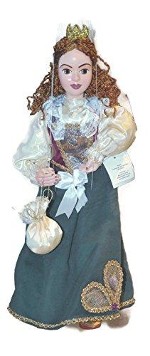 PRINCESS Alana Green Loutka Marionette String Puppets Approx 18 High Hand Made In Prague Czech Republic