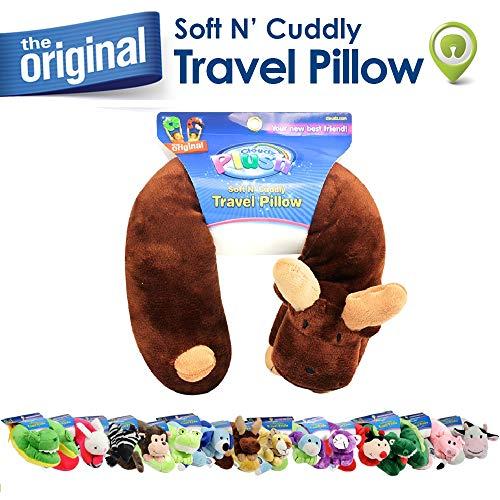 Cloudz Plush Animal Neck Pillows - Moose