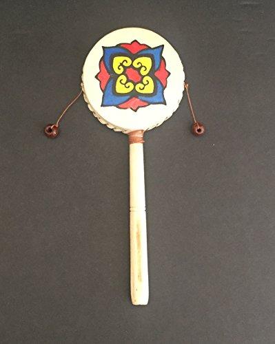 Balance Drum Twist Rattle Painted Maracas Shaker Percussion - Large 12- JIVE BRAND