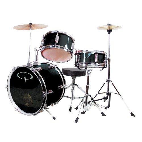 GP Percussion GP50BK Complete Junior Drum Set Black 3-Piece Set