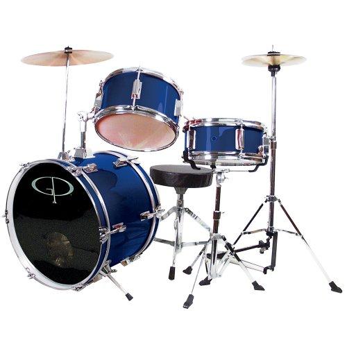 GP Percussion GP50BL Complete Junior Drum Set Blue 3-Piece Set