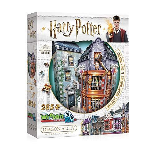 WREBBIT 3D - Harry Potter Weasleys Wizard Wheezes Daily Prophet 3D Jigsaw Puzzle - 280Piece BrownA