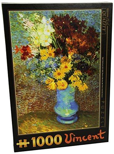 1000 Piece Flowers In Blue Vase Jigsaw Puzzle By Van Gogh by ToyMarket