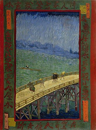 Artifact Puzzles - Van Gogh Bridge In The Rain Wooden Jigsaw Puzzle