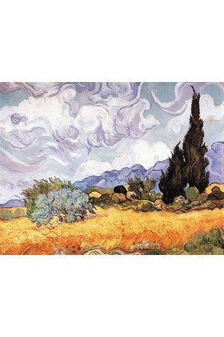 Puzzles Michele Wilson - Art Luxury Wood jigsaw Puzzle Van Gogh Les Blés Jaunes 150 Pieces