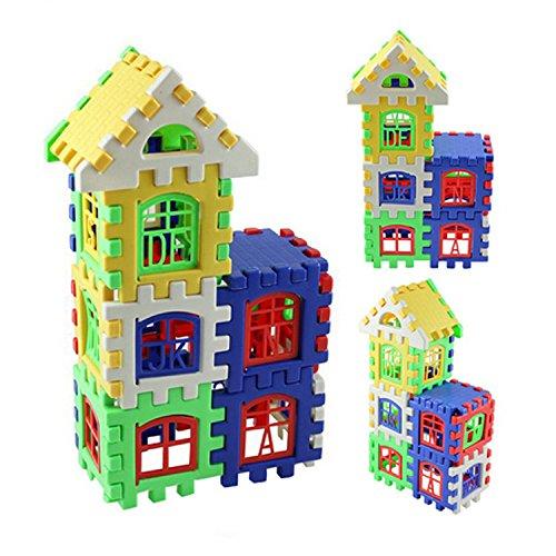 Plastic 3D DIY Puzzle House Toy Puzzle Toys Children Kid Educational Developmental Toy