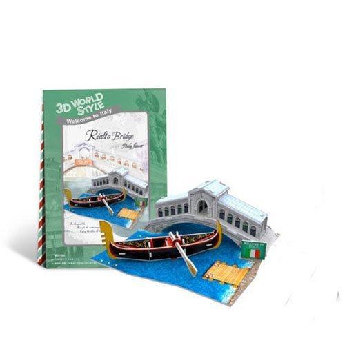 CubicFun World Series by Italy Rialto Bridge 3D Puzzle Toys DIY Paper Model Ltopm12