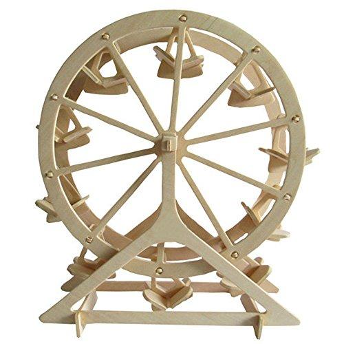 3D DIY Wooden Puzzle Toy Ferris Wheel Model Puzzle Brain Teaser for Children Adult