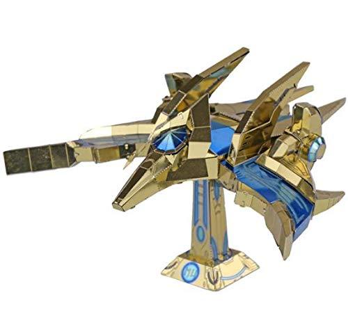 MU 3D Metal Puzzle SC2 Protoss Phoenix Aircraft Model Kits YM-N031 DIY 3D Laser Cut Assemble Jigsaw Toy