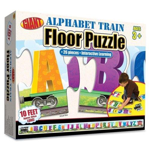 Wholesale CASE of 10 - Carson Alphabet Train Floor Puzzle-ABC Train Floor Puzzle 26 Pieces Assorted