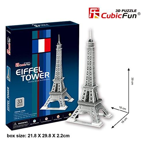 CubicFun C705H Eiffel Tower Puzzle Silver
