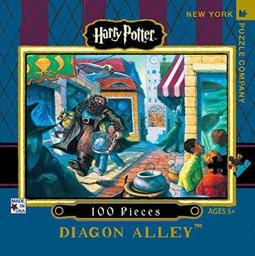 New York Puzzle Company - Harry Potter Diagon Alley Mini - 100 Piece Jigsaw Puzzle