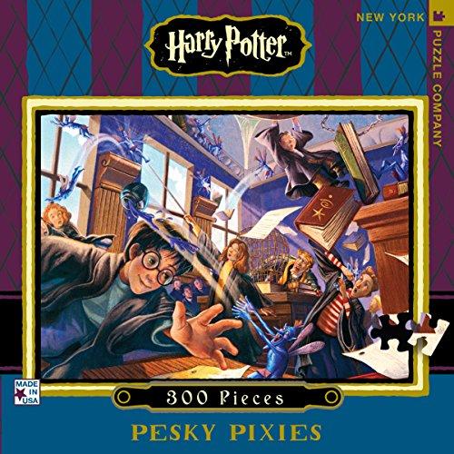 New York Puzzle Company - Harry Potter Pesky Pixies - 300 Piece Jigsaw Puzzle