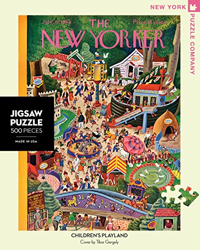 New York Puzzle Company - New Yorker Childrens Playland - 500 Piece Jigsaw Puzzle