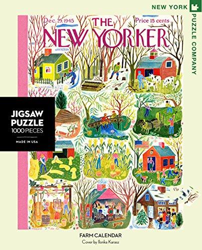 New York Puzzle Company - New Yorker Farm Calendar - 1000 Piece Jigsaw Puzzle