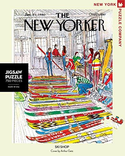 New York Puzzle Company - New Yorker Ski Shop - 750 Piece Jigsaw Puzzle