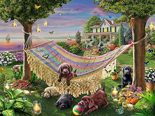 Puppies Butterflies Jigsaw Puzzle 550 Piece
