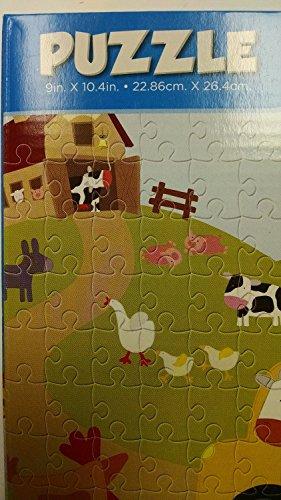 100 Piece Cartoon Farm Animals Jigsaw Puzzle