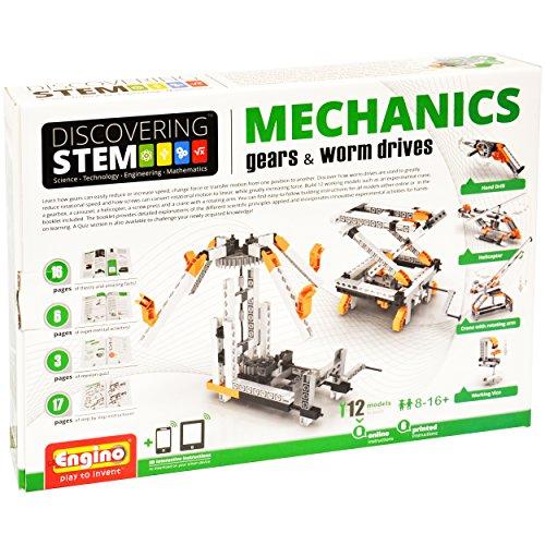 Engino Discovering STEM Mechanics Gears Worm Drives Construction Kit