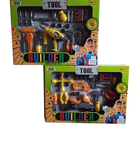 Toy Tools Set Wrench Hammer Screwdriver Mechanics Carpenter Builder Bob Construction Play Set-Set Varies