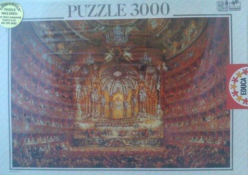 Festa in teatro a Roma 1747 Giovanni Paolo Pannini 3000 piece Educa Jigsaw Puzzle