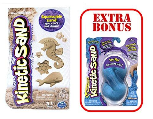 Kinetic Sand - 3lb - Kinetic Beach Sand by Spin Master - Wacky-Tivities  BONUS 6 oz Neon Sand Assorted