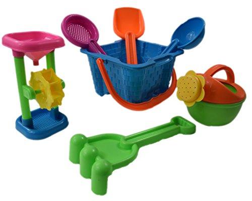 Dazzling Toys Kids Toy Beachsandbox Tool Playset - Castle Bucket 7 Piece SET