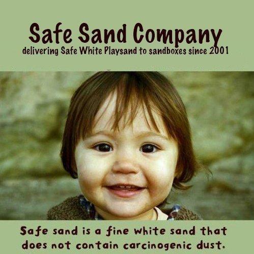 Safe Sand for Sandbox  Natural White Playsand 25 pound box