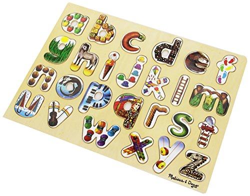 Melissa Doug Alphabet Art Wooden Alphabet Puzzle
