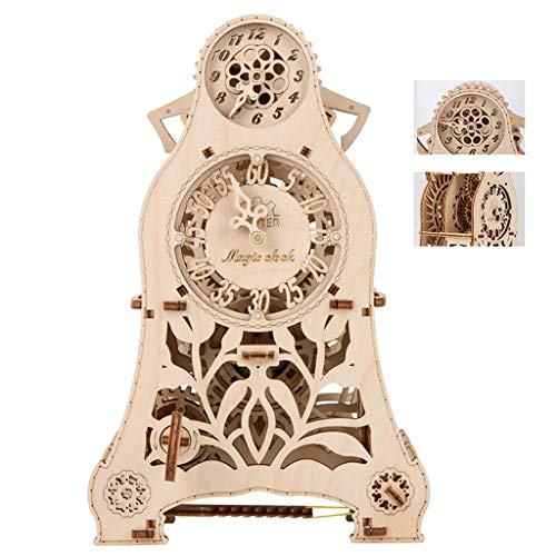 3D Magic Pendulum Clock PuzzleDIY Wooden Mechanical Transmission Model Magic Pendulum Clock Kit Assembly for Adults and Children