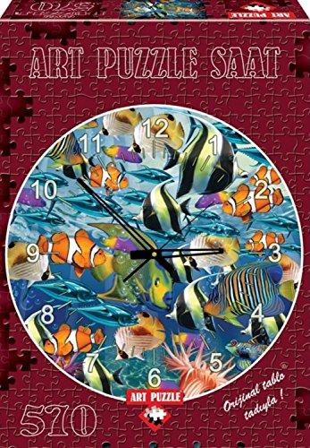Multi Fish By John Enright 570 Piece Clock Puzzle