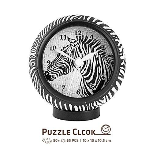 Pintoo - KC1004 - Pattern Zebra - 145 Piece Plastic Clock Puzzle