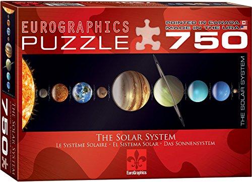 EuroGraphics Solar System Jigsaw Panorama Puzzle 750-Piece