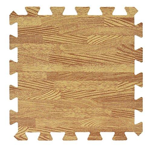 1PC Imitation wood grain EVA Foam Jigsaw Puzzles 3030CM  SUPPION Living Room Bedroom Splice Mat Kids Baby Yellow