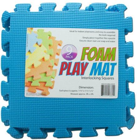 9-Pack Interlocking Foam Play Mat Case Pack 4 Kids Children
