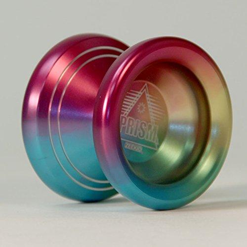 Zeekio Prism Aluminum ball bearing yo-yo with Rainbow Anodized Finish