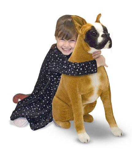 Melissa Doug Giant Boxer -  Lifelike Stuffed Animal Dog