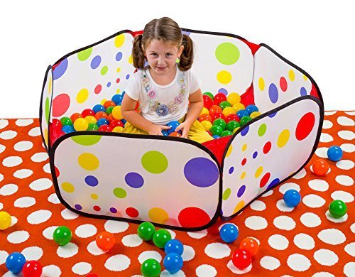 Durable Hexagon Playpen Ball Pit with Convenient Zippered Compact Storage Carrying Case  Indoor or Outdoor Use Balls Sold Separately by F&W