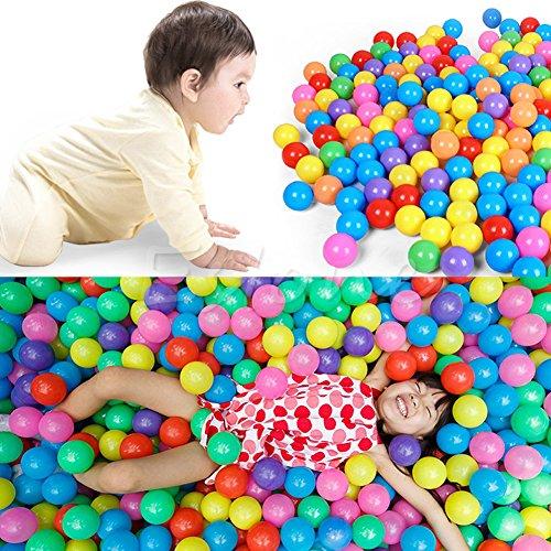 MEXUD 100Pcs Colorful Ball Ocean Balls Soft Plastic Ocean Ball For Baby Kid Swim Pit Toy Ship