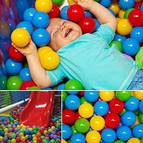 Sangdo 100pcs Multi-Color Cute Kids Soft Play Balls Toy for Ball Pit Swim Ball Pool