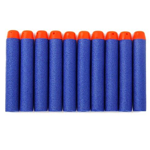 BESTOYARD 200pcs Foam Darts Refill Bullets for Nerf N-strike Elite Series Blasters Kids Toy Gun Blue