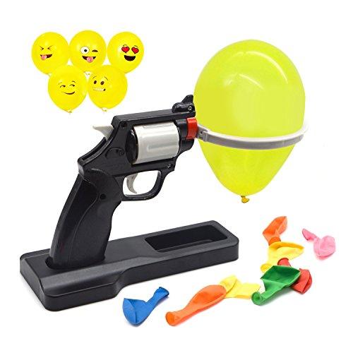 Balloon Party Roulette Gun Bang Game Fun College Kids Harmless Gag Toy Set