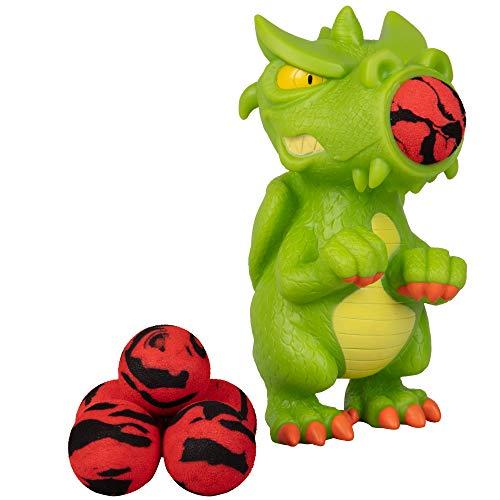 Hog Wild Dragon Popper Toy - Shoot Foam Balls Up to 20 Feet - 6 Balls Included - Age 4