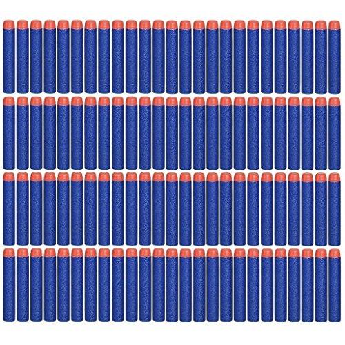 EC2BUY 100pcs 72cm Refill Bullet Darts for Nerf N-strike Elite Series Blasters Kid Toy Gun - Dark Blue