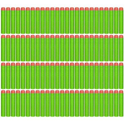EC2BUY 100pcs 72cm Refill Bullet Darts for Nerf N-strike Elite Series Blasters Kid Toy Gun - Green