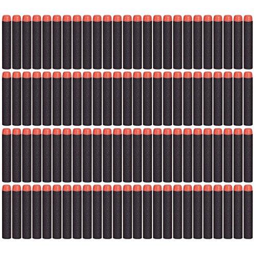 EC2BUY 200pcs 72cm Refill Bullet Darts for Nerf N-strike Elite Series Blasters Kid Toy Gun - Black